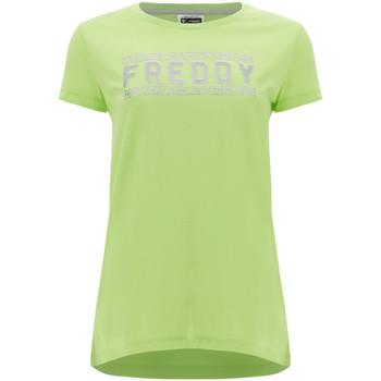 textil Dam T-shirts Freddy S1WCLT2 Grön