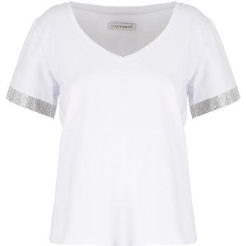 textil Dam T-shirts Café Noir JT6490 Vit