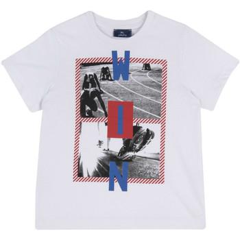 textil Barn T-shirts Chicco 09067134000000 Vit