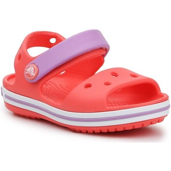 Skor Flickor Sandaler Crocs Crocband Sandal Kids 12856-6SL orange, purple