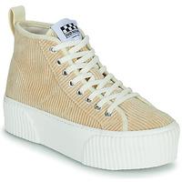 Skor Dam Höga sneakers No Name IRON MID Beige