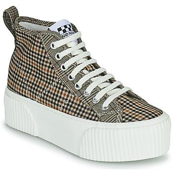 Skor Dam Höga sneakers No Name IRON MID Brun