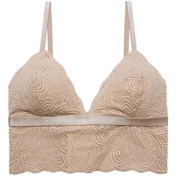Underkläder Dam Triangel- & bygelfri bh Underprotection RR1005 LUNA BRALETTE NUDE Beige