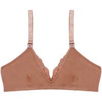 Underkläder Dam Triangel- & bygelfri bh Underprotection BB1021 MIA MATERNITY BRA TAN Beige