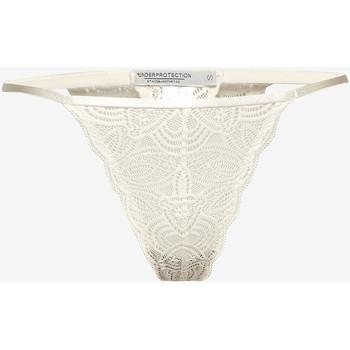 Underkläder Dam String Underprotection RR1008 LUNA STRING OFF WHITE Beige
