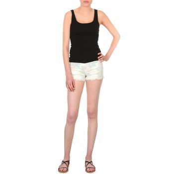 textil Dam Shorts / Bermudas School Rag SELENA FLOWERS Vit / Tryck / Blommig