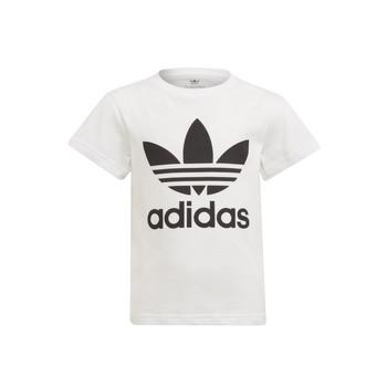 textil Barn T-shirts adidas Originals FLORE Vit