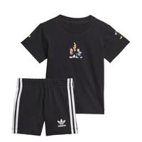textil Pojkar Set adidas Originals COTES Svart