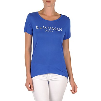 textil Dam T-shirts School Rag TEMMY WOMAN Blå