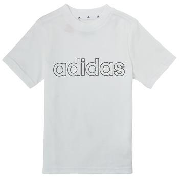 textil Pojkar T-shirts adidas Performance ALBA Vit