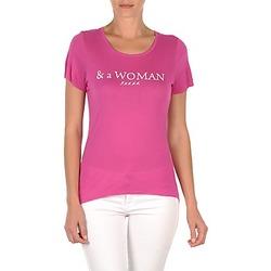 textil Dam T-shirts School Rag TEMMY WOMAN Violett