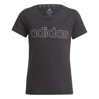 textil Flickor T-shirts adidas Performance PLAKAT Svart