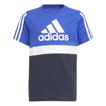 textil Pojkar T-shirts adidas Performance ABATIA Marin / Svart