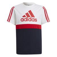 textil Pojkar T-shirts adidas Performance GUILIA Vit / Marin