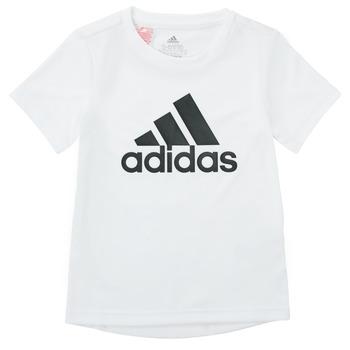 textil Pojkar T-shirts adidas Performance NADEGE Vit