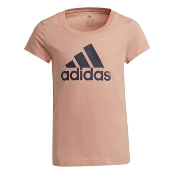 textil Flickor T-shirts adidas Performance ALBERIC Rosa