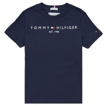 textil Pojkar T-shirts Tommy Hilfiger SELINERA Marin