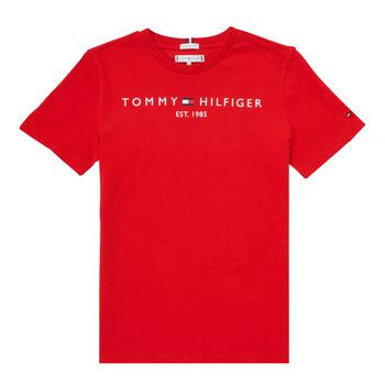 textil Pojkar T-shirts Tommy Hilfiger SELINERA Röd