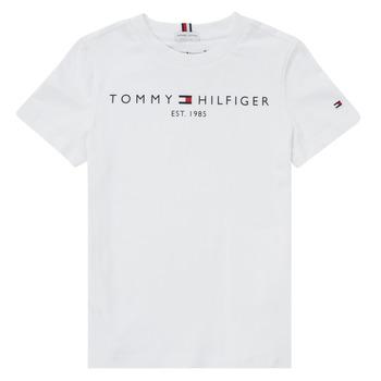 textil Pojkar T-shirts Tommy Hilfiger SELINERA Vit