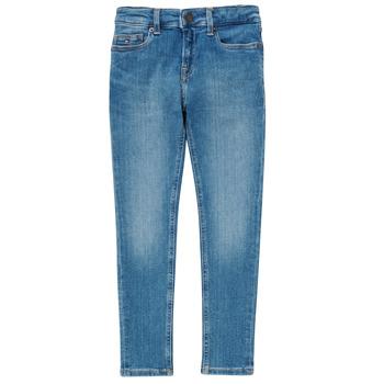textil Pojkar Skinny Jeans Tommy Hilfiger SIMON Blå