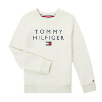 textil Pojkar Sweatshirts Tommy Hilfiger HERTINA Vit