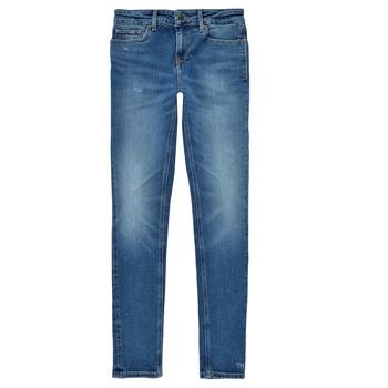 textil Flickor Skinny Jeans Tommy Hilfiger JEANNOT Blå