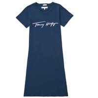 textil Flickor Korta klänningar Tommy Hilfiger POLINE Marin