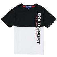 textil Pojkar T-shirts Polo Ralph Lauren KAMILA Vit / Svart
