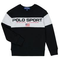 textil Pojkar Sweatshirts Polo Ralph Lauren SIMEON Svart