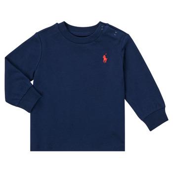 textil Pojkar Långärmade T-shirts Polo Ralph Lauren FADILA Marin