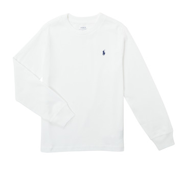 textil Pojkar Långärmade T-shirts Polo Ralph Lauren KEMILO Vit