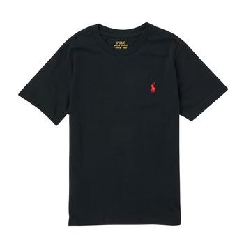 textil Pojkar T-shirts Polo Ralph Lauren FANNY Svart
