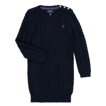 textil Flickor Korta klänningar Polo Ralph Lauren RURBE Marin