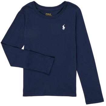 textil Flickor Långärmade T-shirts Polo Ralph Lauren PETRA Marin