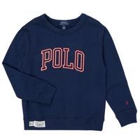 textil Pojkar Sweatshirts Polo Ralph Lauren KAMILLAR Marin