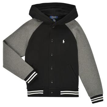 textil Pojkar Sweatshirts Polo Ralph Lauren DENINO Svart / Grå