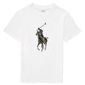 textil Pojkar T-shirts Polo Ralph Lauren GUILIA Vit