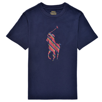 textil Pojkar T-shirts Polo Ralph Lauren GUILIA Marin