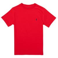 textil Flickor T-shirts Polo Ralph Lauren FOLLIA Röd
