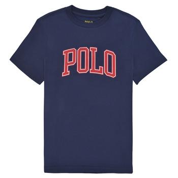 textil Pojkar T-shirts Polo Ralph Lauren MALIKA Marin