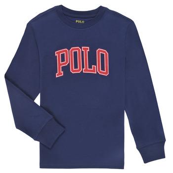 textil Pojkar Långärmade T-shirts Polo Ralph Lauren METIKA Marin