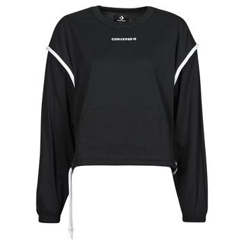 textil Dam Sweatshirts Converse LONG SLEEVE JERSEY CREW Svart
