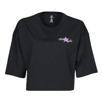 textil Dam T-shirts Converse CHUCK INSPIRED HYBRID FLOWER OVERSIZED CROPPED TEE Svart