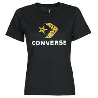 textil Dam T-shirts Converse STAR CHEVRON HYBRID FLOWER INFILL CLASSIC TEE Svart