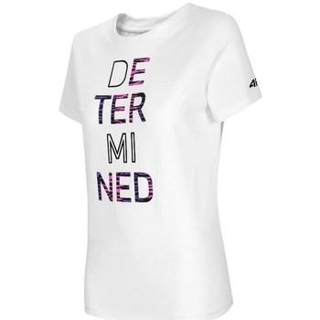textil Dam T-shirts 4F TSD018 Vit