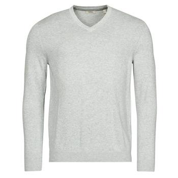 textil Herr Tröjor Esprit F PIMA V-NK Grå