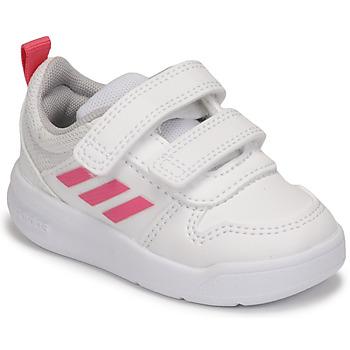 Skor Flickor Sneakers adidas Performance TENSAUR I Vit / Rosa