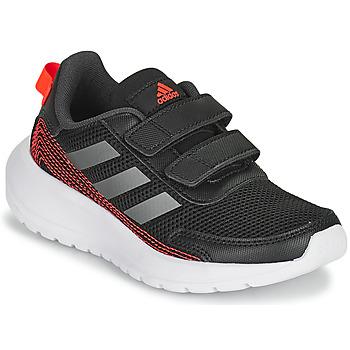 Skor Pojkar Löparskor adidas Performance TENSAUR RUN C Svart / Röd
