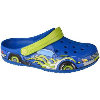 Skor Barn Träskor Crocs Fun Lab Truck Band Clog Bleu