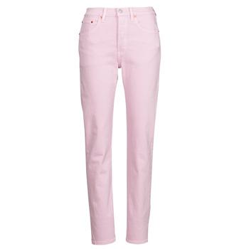 textil Dam Jeans boyfriend Levi's 501 CROP Rosa